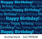 happy birthday   grouped... | Shutterstock . vector #161789828
