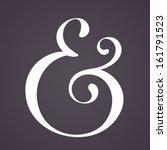ampersand for decoration.... | Shutterstock .eps vector #161791523