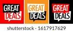 great deals on speech bubble | Shutterstock .eps vector #1617917629