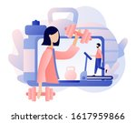 fitness blog and workout app... | Shutterstock .eps vector #1617959866