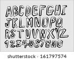 font sketch hand drawing vector ... | Shutterstock .eps vector #161797574