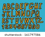 font sketch hand drawing vector ... | Shutterstock .eps vector #161797586
