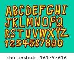 font sketch hand drawing vector ... | Shutterstock .eps vector #161797616