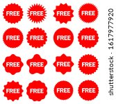 free vector icons set. red...   Shutterstock .eps vector #1617977920