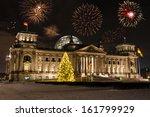 fireworks and bundestag in... | Shutterstock . vector #161799929