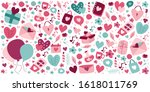 abstract seamless love pattern. ... | Shutterstock .eps vector #1618011769