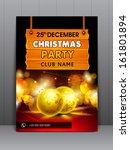 merry christmas celebration...   Shutterstock .eps vector #161801894