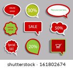 collection of sale discount... | Shutterstock .eps vector #161802674