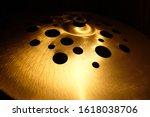 Close Up Shiny Cymbals Musical...