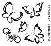 Stock vector butterflies design 161804186