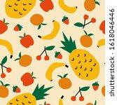 simple fruits pattern designs ... | Shutterstock .eps vector #1618046446