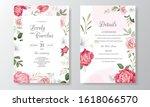 beautiful floral wedding... | Shutterstock .eps vector #1618066570