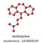 amitriptyline c20h23n  molecule.... | Shutterstock . vector #1618068169