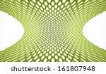 green abstract hexagonal mesh... | Shutterstock . vector #161807948
