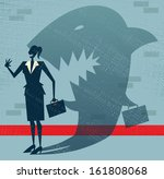 abstract businesswoman is a... | Shutterstock .eps vector #161808068