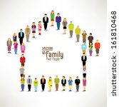 conceptual happy family vector... | Shutterstock .eps vector #161810468