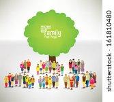 Conceptual Happy Family Tree...