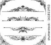 rule line and corner design...   Shutterstock .eps vector #161811953