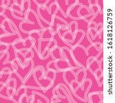 hand drawn hearts. doodle... | Shutterstock .eps vector #1618126759