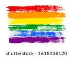 Grunge Lgbt Pride Flag....