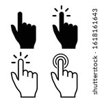 vector hand cursors icons click ...   Shutterstock .eps vector #1618161643