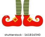 Christmas Cartoon Elf's Legs...