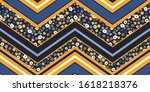 organized ditsy graphic floral...   Shutterstock .eps vector #1618218376