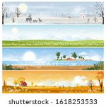 landscape natural backgrounds... | Shutterstock .eps vector #1618253533