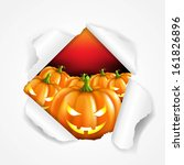 retro halloween poster  with... | Shutterstock .eps vector #161826896