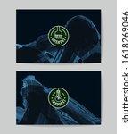 set of vector business card... | Shutterstock .eps vector #1618269046