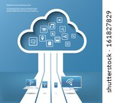 cloud computing concept vector... | Shutterstock .eps vector #161827829