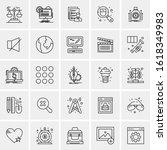 25 universal icons vector...   Shutterstock .eps vector #1618349983