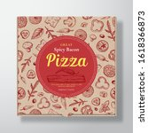 spicy bacon pizza realistic... | Shutterstock .eps vector #1618366873