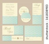 beautiful vintage wedding...   Shutterstock .eps vector #161838983
