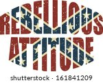grunge confederate flag and... | Shutterstock .eps vector #161841209