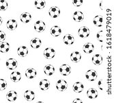 black and white coloring soccer ... | Shutterstock .eps vector #1618479019