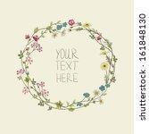 Stock vector vector floral frame 161848130