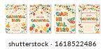 set of 2020 carnival cards or...   Shutterstock .eps vector #1618522486