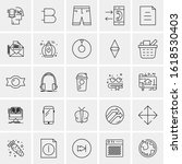 25 universal icons vector... | Shutterstock .eps vector #1618530403