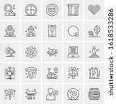 25 universal icons vector...   Shutterstock .eps vector #1618533286