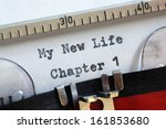 my new life chapter one concept ... | Shutterstock . vector #161853680