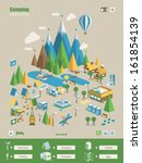 mountain   camping info elements | Shutterstock .eps vector #161854139