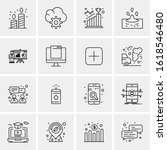 16 business universal icons... | Shutterstock .eps vector #1618546480