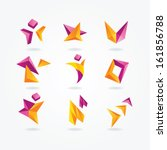 abstract icons | Shutterstock .eps vector #161856788