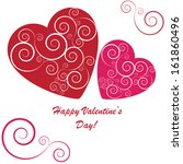 valentine's background with two ... | Shutterstock . vector #161860496