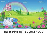 Fairytale Background With Rive...