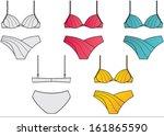 woman's lingerie technical... | Shutterstock .eps vector #161865590