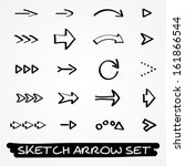 set of twenty hand drawn black... | Shutterstock .eps vector #161866544