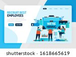 landing page of we are hiring... | Shutterstock .eps vector #1618665619