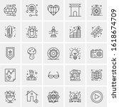 25 universal icons vector... | Shutterstock .eps vector #1618674709